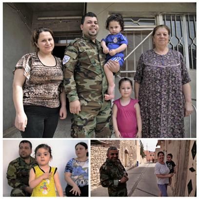 Rodziny zolnierzy wAlkusz 30km odMosulu wpolnocnym Iraku