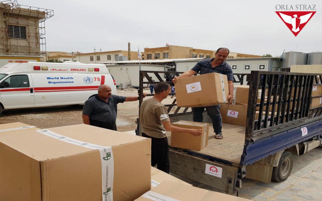 dostawa sprzętu medycznego, Irak 2019.png